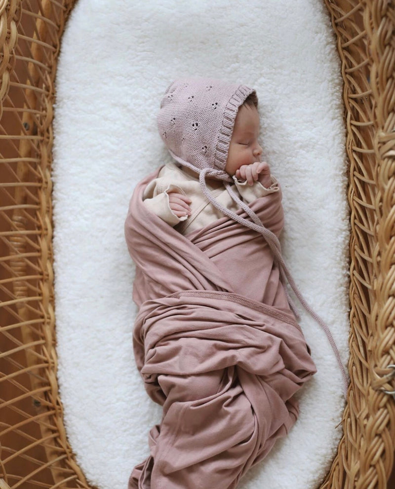Dusty Rose Stretch Swaddle
