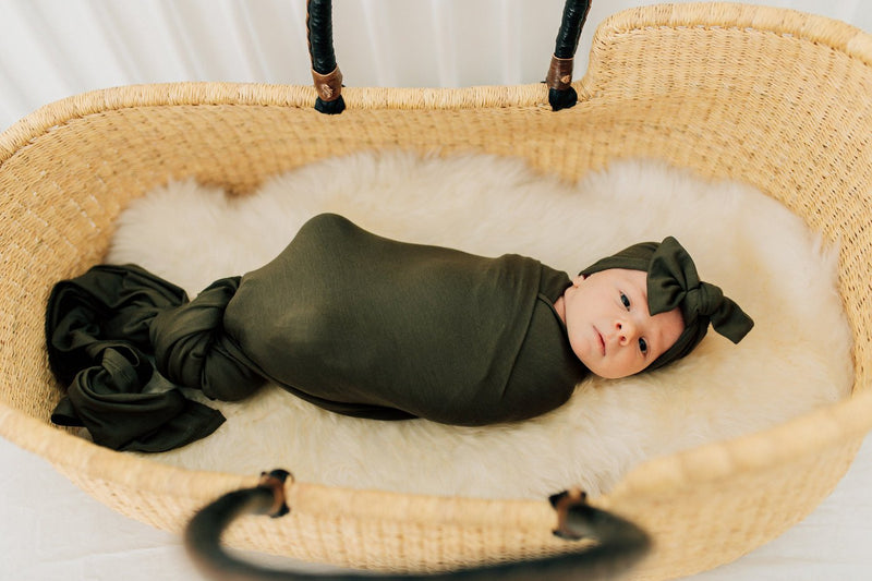 Olive Stretch Swaddle