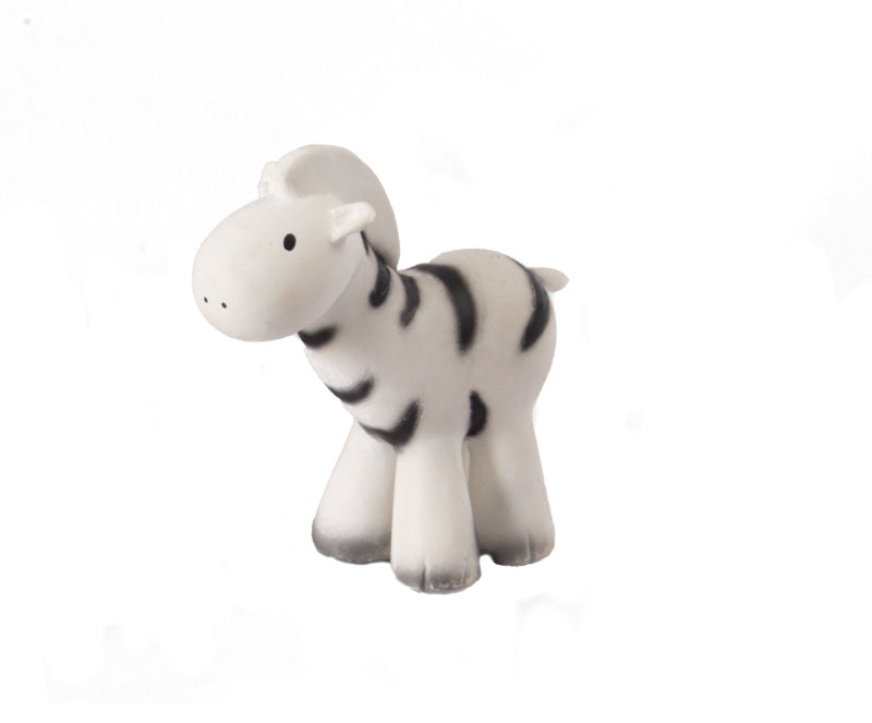 Tikiri Zebra Rubber Teether and Rattle