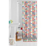 Shower curtain. Multi colored chevron
