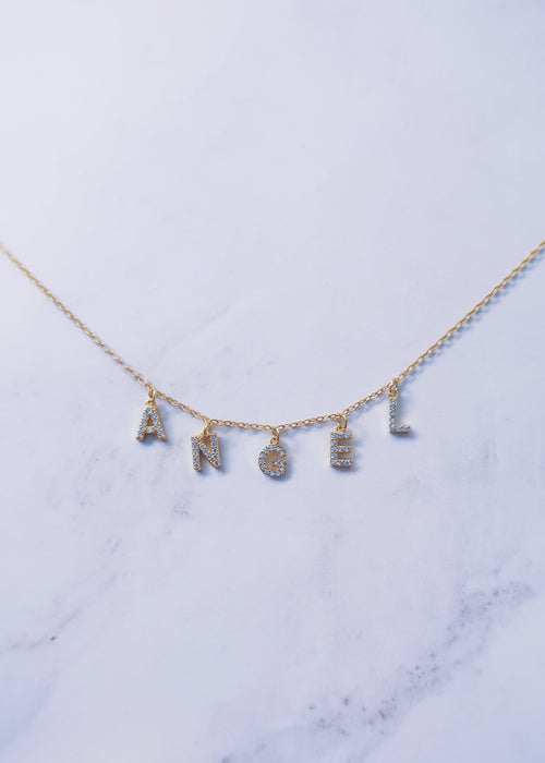 Custom Crystal Name Necklace