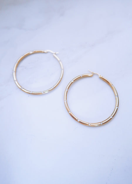 XL Crystal Hoops