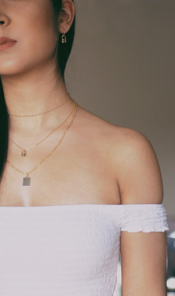 Rectangle Tag Necklace