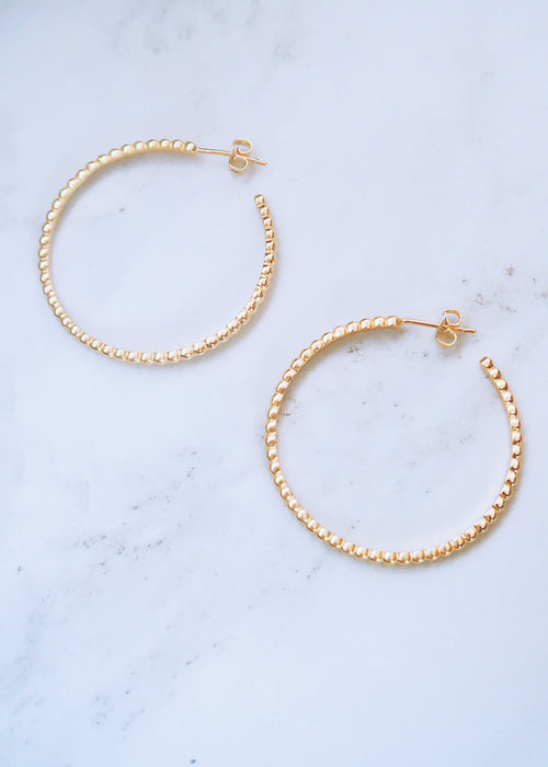 Beaded Ball Hoops
