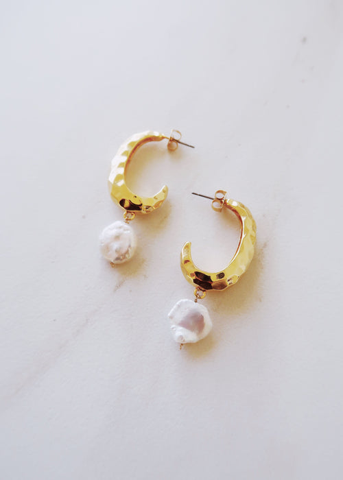 Iridescent Pearl Earrings