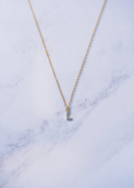 Tiny Crystal Cross Neckace