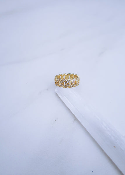 Crystal Cuban Ring