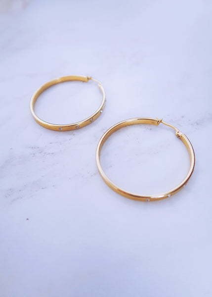 Aurora Crystal Hoops