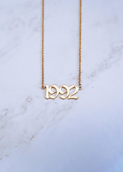 Old English Birthdate Necklace