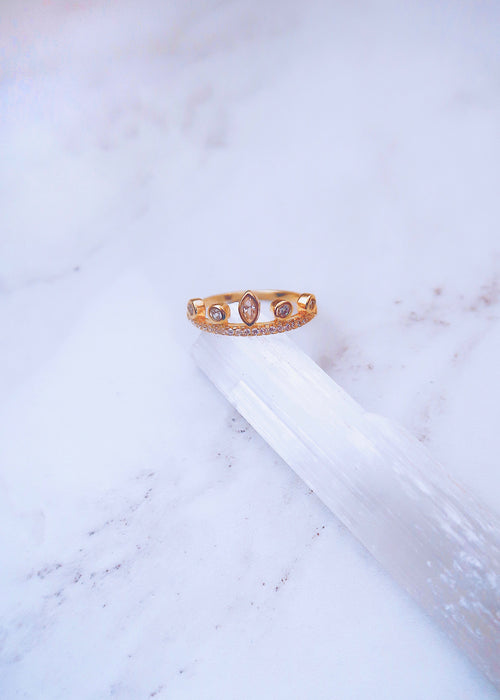 Marquise Dots Ring