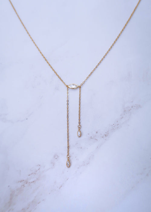 Marquise Bolo Necklace
