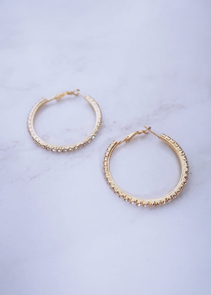Small Crystal Hoops
