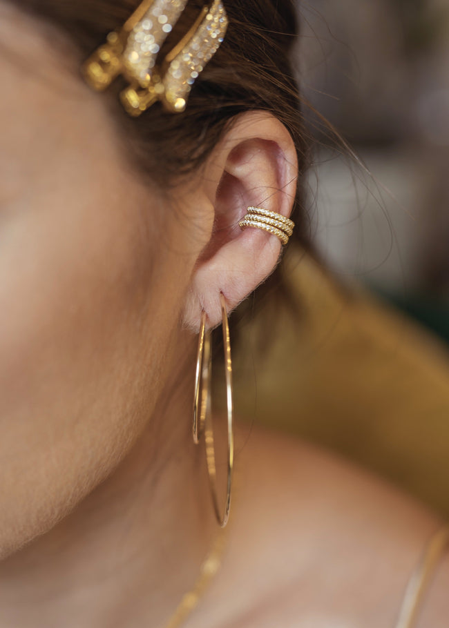 18k Gold Endless Hoops
