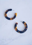 Tortoise Large Hoops