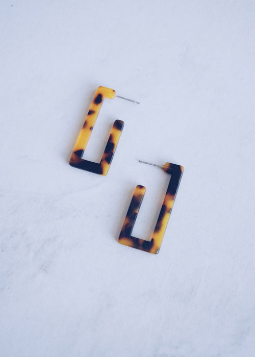 Tortoise Rectangle Studs