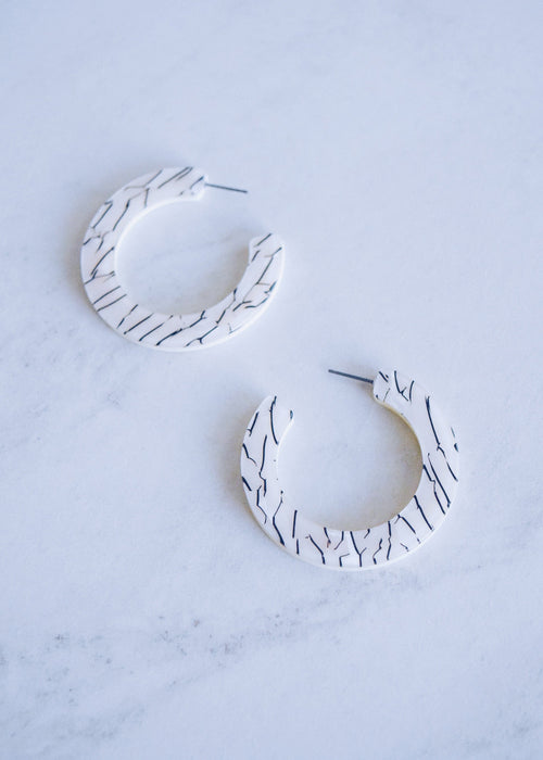 Zebra Print Large Hoops