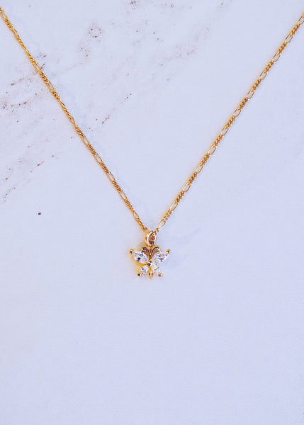 Crystala Butterfly Necklace