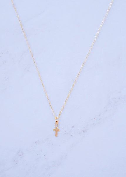 Ankh Charm Necklace