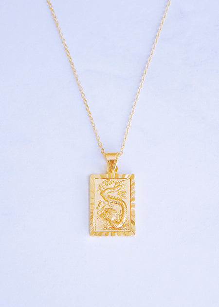 Crystal Chinese Dragon Pendant