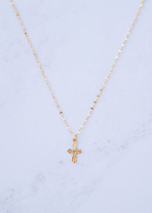 Mini Intricate Cross Necklace
