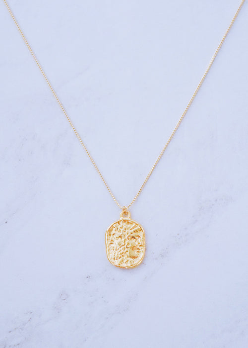 Greek God Pendant Necklace