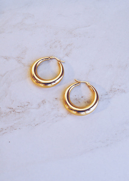 Large Orb Hoops