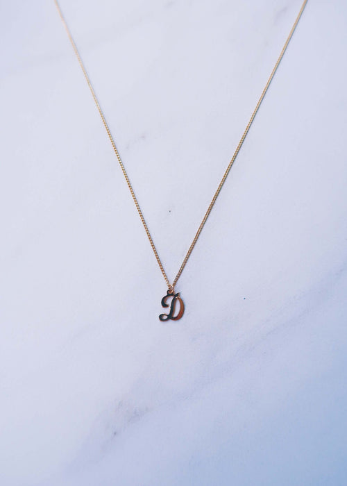 Gold Filled Initial Pendant