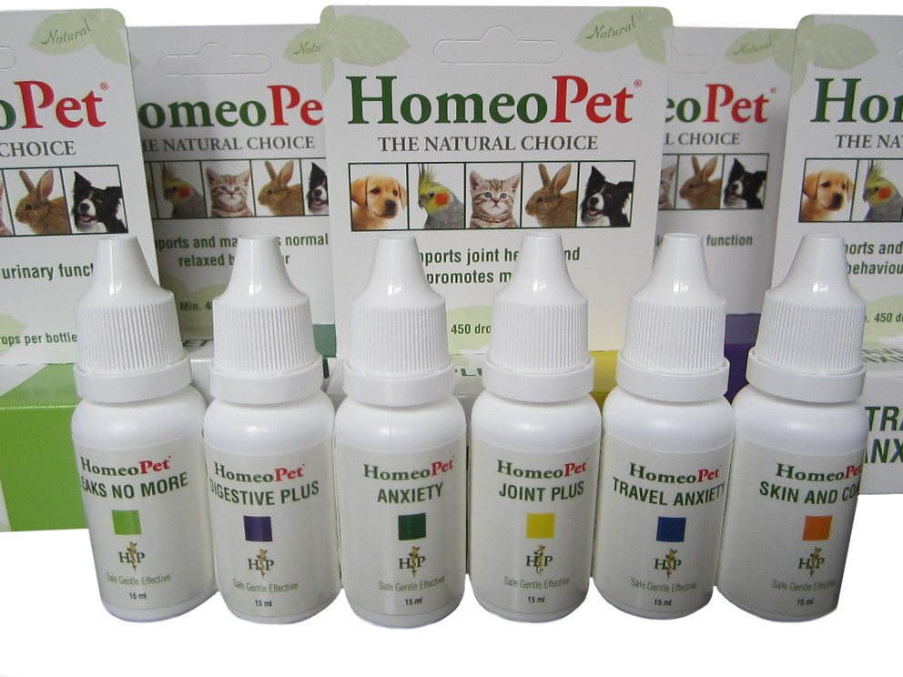 Homeopet Range of natural treatments for pets