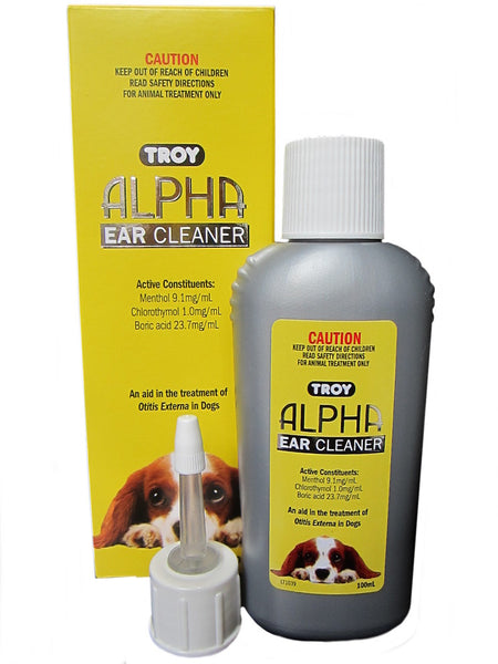 Troy Alpha Ear Cleaner 100ml pet dog Otitis treatment