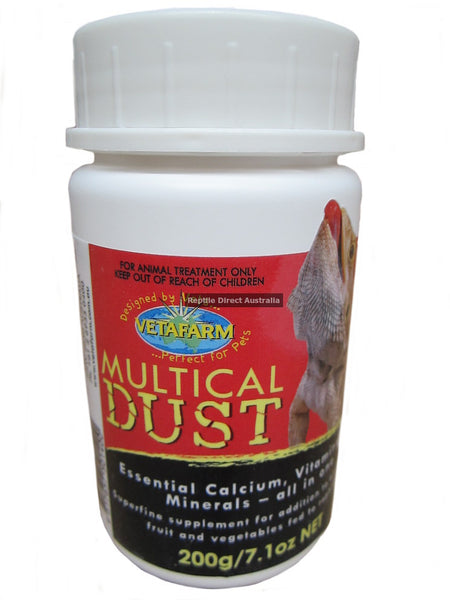 Multical 150g calcium & vitamin supplement for reptiles