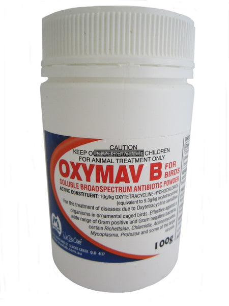 Oxymav B Bird Antibiotic Powder 100g