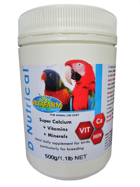 Vetafarm D Nutrical 500g Vitamin Mineral Supplement