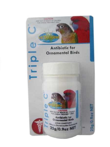 Vetafarm Triple C 500g antibiotic for birds