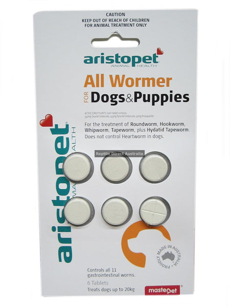 All Wormer Tablets for Dogs 10kg/Tab 6's