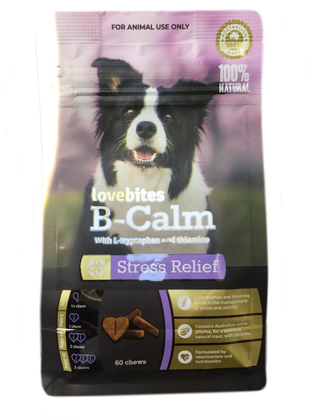 Vetafarm Lovebites B-Calm 60 chews natural stress relief
