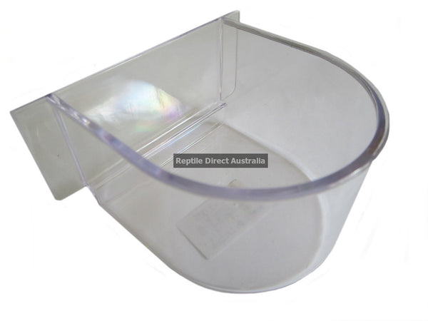 Clear D Cup Feed or Water Tray for Exercise Cage