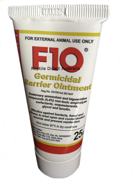 F10 Germicidal Barrier Ointment 25g animal wound treatment