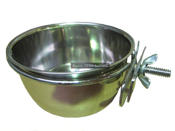 Stainless Steel Bird Feed Water Cup 10oz