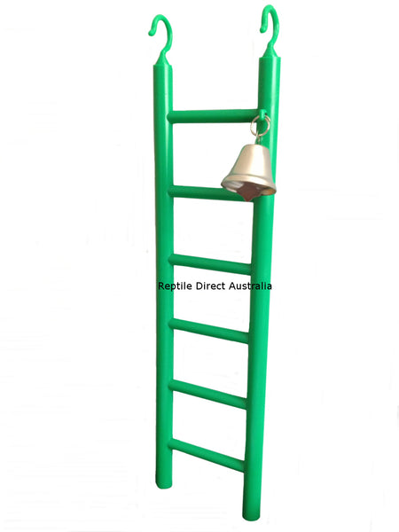 Bird Ladder 6 Step Plastic Deluxe With Bell 28cm