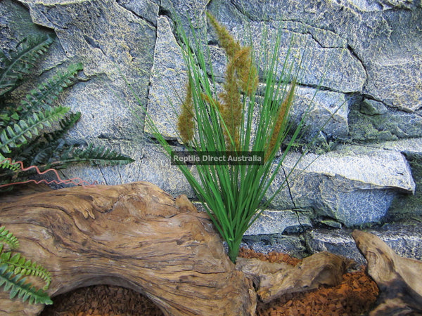 Artificial Grass Plant Brown Flower 45cm