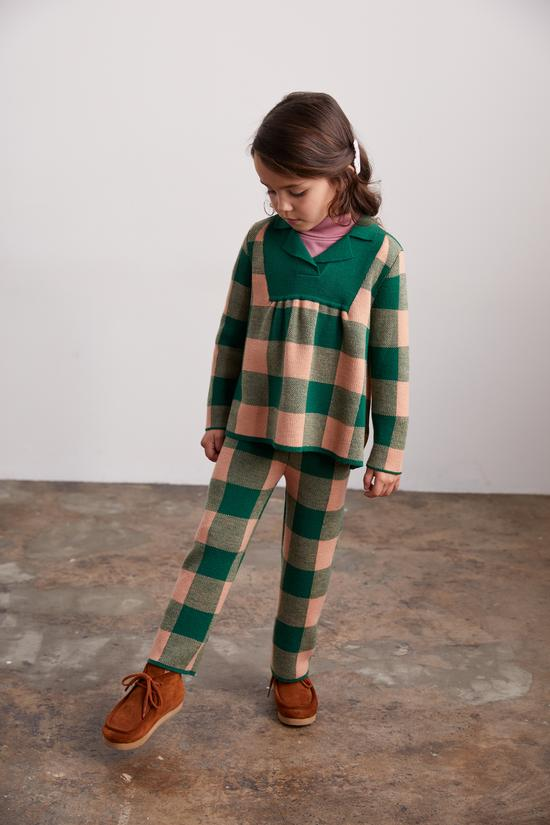 Plaid Tunic - laurel