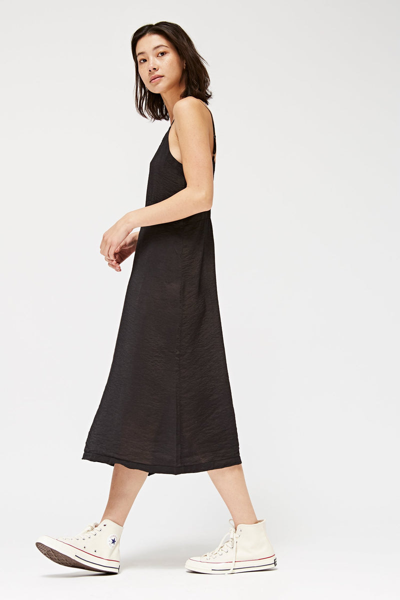 Black ALMA SLIP DRESS