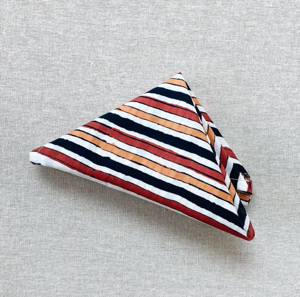 Kerchief in painted stripe voile