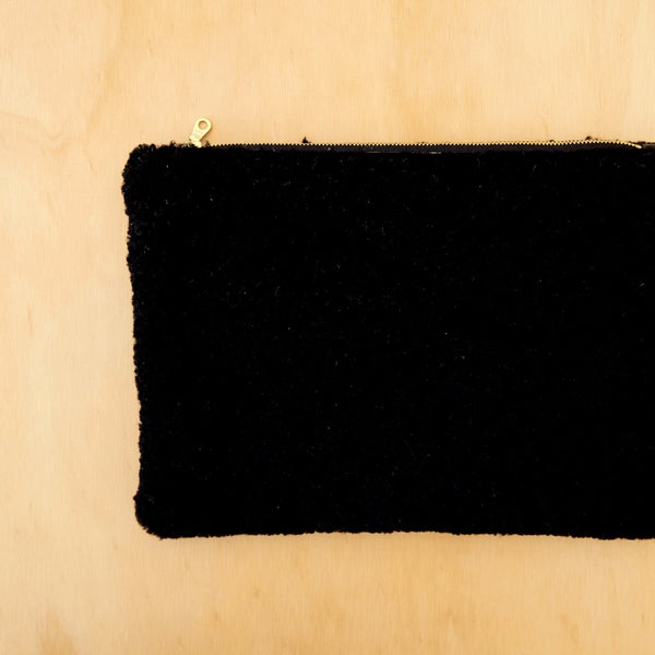 Black Sheepskin Clutch