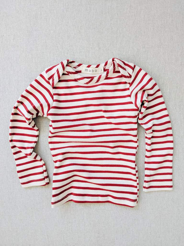 Scarlet striped nautical tee