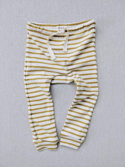 natural/chartreuse striped Leggings