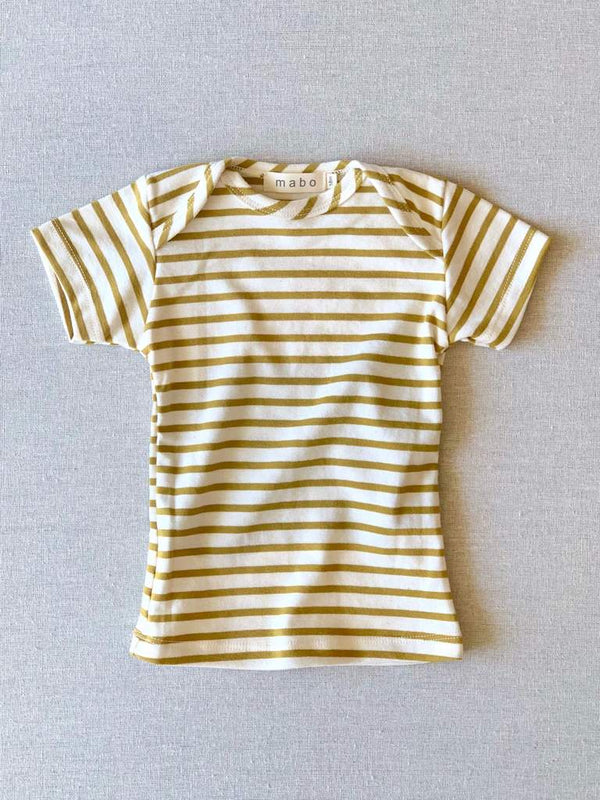 chartreuse striped nautical tee - ss