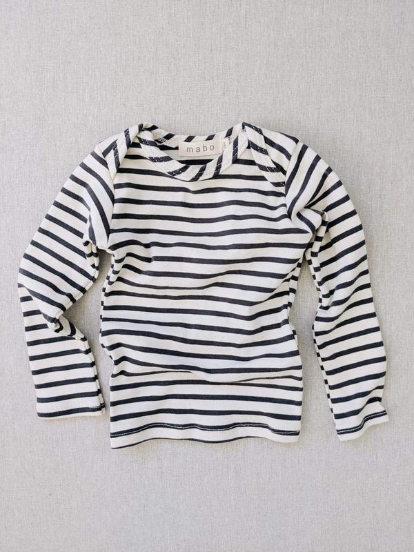 Charcoal striped nautical tee