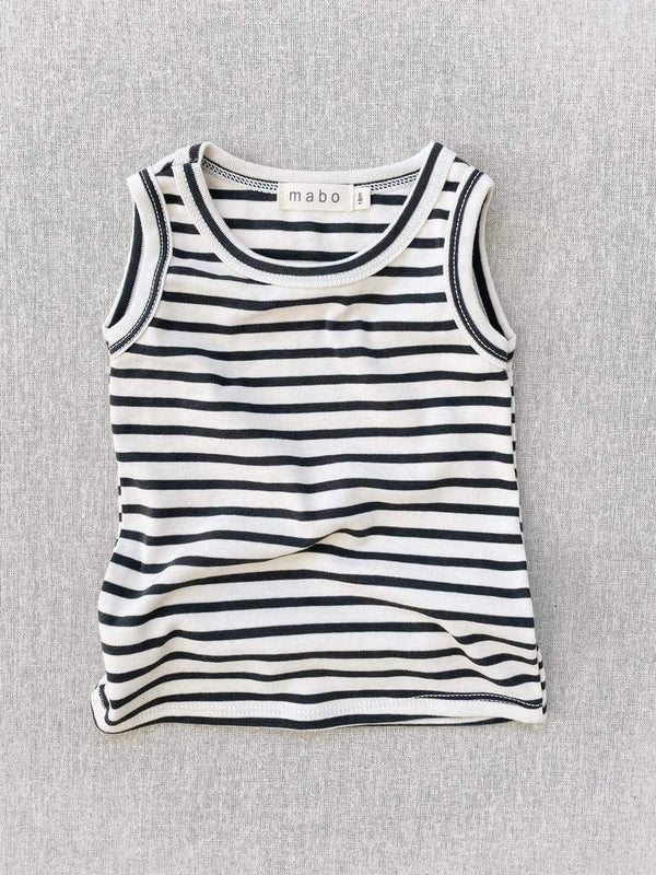 Charcoal striped nautical Tank