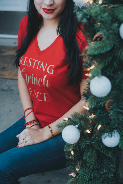 Resting Grinch Face- Women's tee